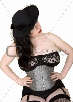 Corseted woman