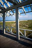Beachfront deck on Bald Head Island, North Carolina.