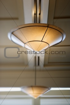 Ceiling lighting.