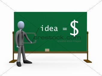 Idea equals money