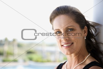 Portrait of woman smiling.