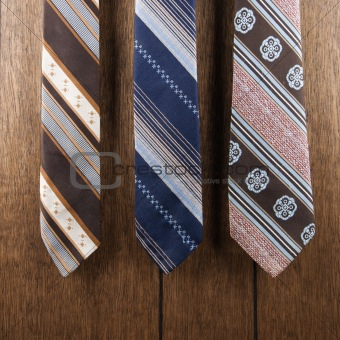 Three retro ties.