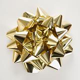 Gold Christmas bow.