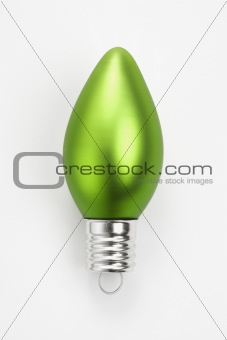 Green Christmas ornament.