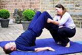 Thai massage shoulder stand 