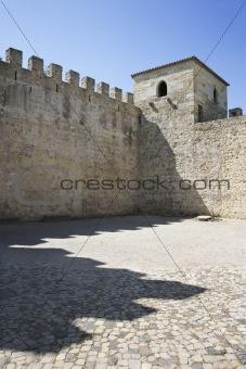 Castle structure in Lisbon, Portugal.