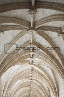 Rib-vaulted ceiling in Lisbon, Portugal.