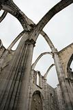 Igreja do Carmo ruins in Lisbon, Portugal.