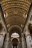 Interior of St. Peter's Basilica in Rome, Italy.