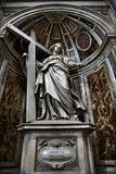 Saint Helena statue inside Saint Peter's Basilica, Rome, Italy.