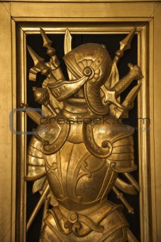 Knight in the Vatican Museum, Rome, Italy.