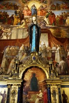 Fresco in the Vatican Museum, Rome, Italy.