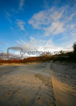 Footpath on sand