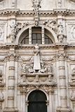 Facade of San Moise Church in Venice, Italy.
