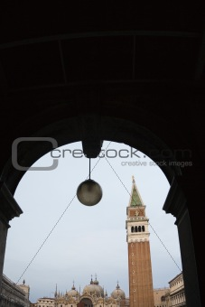 Campanile in Piazza San Marco in Venice, Italy.
