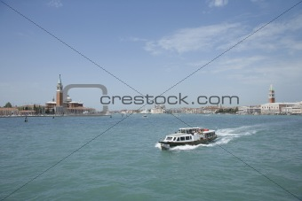 Cruise boat in Venice, Italy.