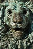 Bronze lion statue in Venice, Italy.