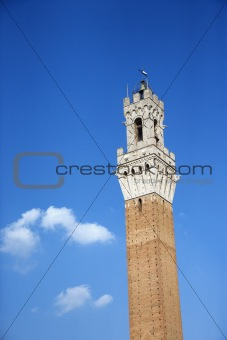Torre del Mangia tower in Siena.
