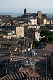Rooftop view of Siena.