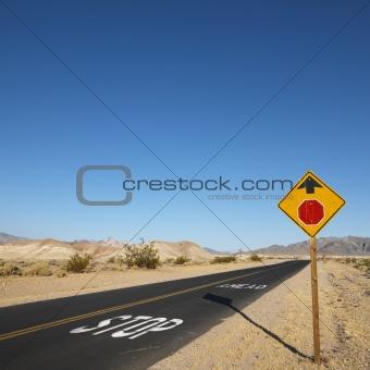 Road in desert.
