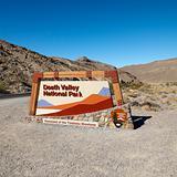 Death Valley National Park entrance sign.