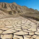 Cracked ground in Death Valley.