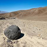 Boulder in Death Valley.