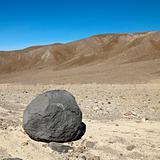 Boulder in Death Valley.