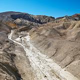 Barren landscape in Death Valley.