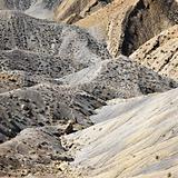 Rocky landscape in desert of Cottonwood Canyon, Utah.