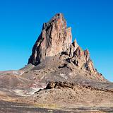 Rock formation in desert of Monument Valley, Utah