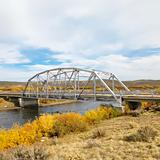Bridge over stream in Wyoming.
