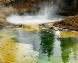 Geyser basin at Yellowstone National Park, Wyoming.