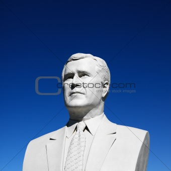 Bust of George Bush sculpture in President's Park, Black Hills,