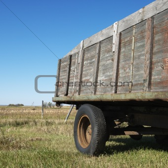 Old wooden trailer.