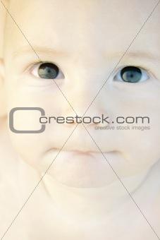 close up cute baby portrait