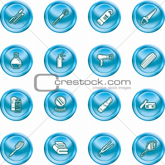 Beauty products icon set