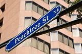 Road sign for Peachtree St. in downtown Atlanta, Georgia.