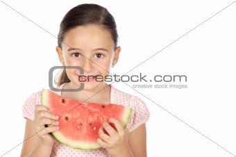 adorable girl eating