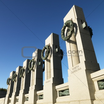 World War II Memorial in Washington, D.C., USA.