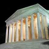 Jefferson Memorial at night in Washington, D.C., USA.