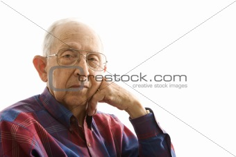 Portrait of elderly man.