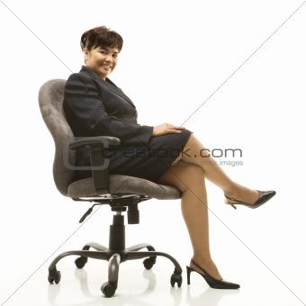 Portrait of smiling businesswoman.