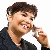 Businesswoman on cellphone.