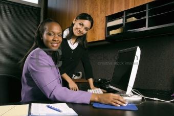 Business women working in office.