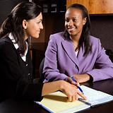 Business women working in office.
