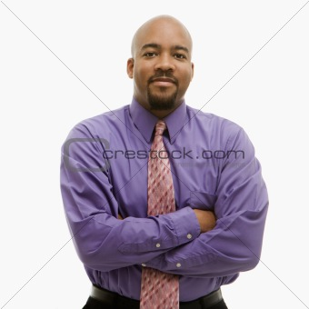 Businessman portrait with arms crossed.