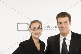 Portrait of businesssman and woman.