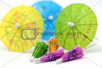brightly colooured drinks umbrellas