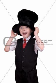Boy in top hat